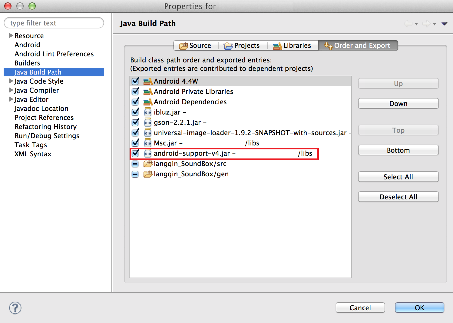 remove-android-support-v4-jar-in-eclipse-java-build-path-order-and-export