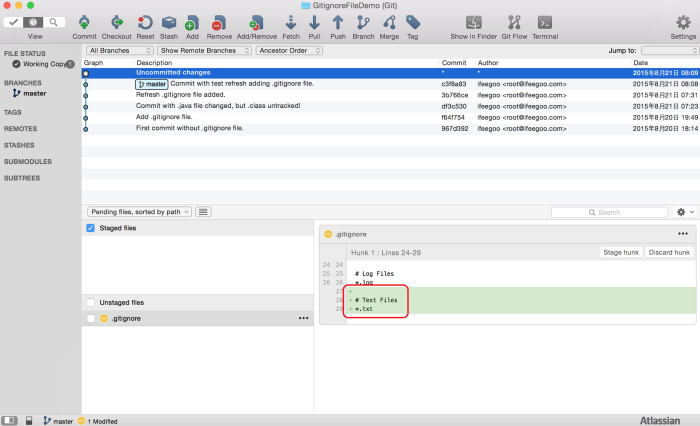 git-code-management-adding-new-file-type-in-gitignore-file